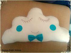 bebek dekor bulut yastığı yapımı