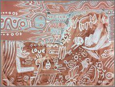 NATURAL WILD LIFE de Ángel Moyano Rivas (2019) : Peinture Acrylique, Pigments sur Toile - Singulart Large Painting, Oeuvre D'art, Pet Birds, Les Oeuvres, Wildlife, Natural, Happy, Artwork, Animals