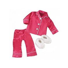 cute pj's and slippers for an 18 inch doll