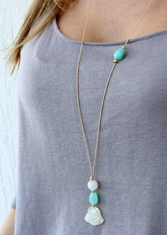 Buddha Necklace. Mother of pearl and agate stone Necklace. Stone necklace. Minimalist Necklace