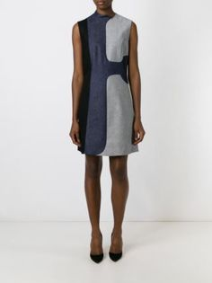 Victoria Beckham Denim Kleid mit Jeanseinsätzen