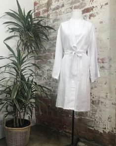 """Jade and May on Instagram: """"The Jade and May pure linen kimono dressing gown in classic white, because sometimes simple is best 💗"""""""