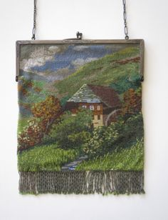 1920's German Black Forest water wheel scenic purse. From Lori Blaser's collection