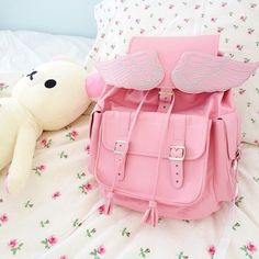 Pink Angel Wing Backpack.  'frozen-eskimo.tumblr'