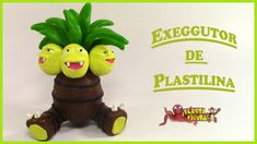 Como Hacer Pokémon Exeggutor de Plastilina/Porcelana Fria/How to Make Ex...