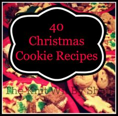 Christmas Cookie Recipes - The Knit Wit by Shair