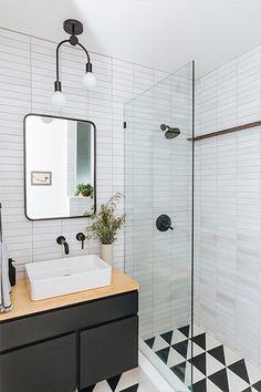 Home Decor Farmhouse Trend Alert: Floating Vanities Cobalt + Gold Bathroom Trends, Bathroom Renovations, Home Remodeling, Bathroom Ideas, Bathroom Organization, Bathroom Storage, Remodel Bathroom, Bathroom Makeovers, Shower Ideas