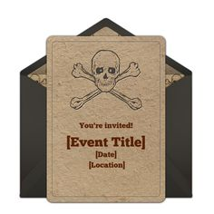 Ahoy, free pirate birthday invitations! Find awesome pirate online invitations you can personalize and send via email.