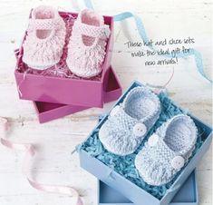 """Tejimos para niñas y niños """"zapatos"""" (Tejer con agujas de tejer) - Revista Inspiración de la Aguja"""