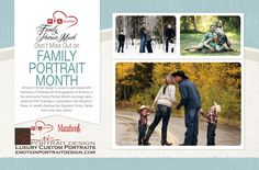 October is Family Portrait Month!  Don't miss this fabulous opportunity to get beautiful family portraits and support PPA Charities! www.emotionportraitdesign.com  #familyportraitmonth #noboringpictures