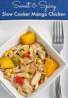 Sweet 'n Spicy Slow Cooker Mango Chicken