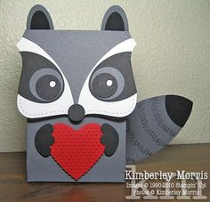 This is a cute raccoon top note box!