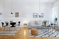 Blog wnętrzarski - design, nowoczesne projekty wnętrz: Jak urządzić dwupokojowe mieszkanie w stylu skandynawskim 53m2