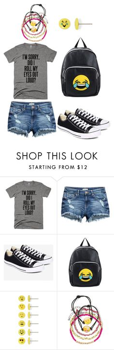 """to all STUPID people!!!!!"" by kittkatt3001 on Polyvore featuring Converse, OLIVIA MILLER and Carole"