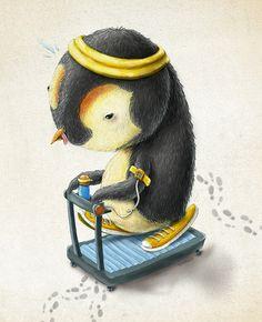 """Pé de Bicho by Renato Moraes """" Mr. Penguin, keep up!! Jiayous!! """""""