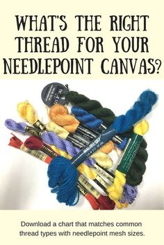 What size canvas suits what type of threads.