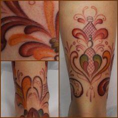 tatuering kurbits -jättefina i rött!