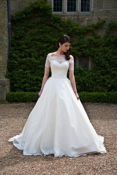 Augusta Jones wedding dress Lace sleeve wedding dress