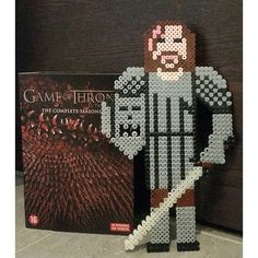 Sandor Clegane - Game of Thrones perler beads by arno_dk