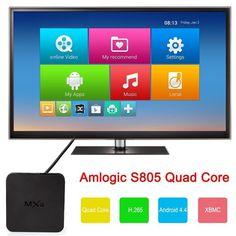 MXQ Android TV Box KODI Fully Loaded Amlogic S805 Quad Core 1gb 1080p Streaming Media Player, C$75.90