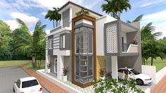 Home Design Plan with 4 Bedrooms - SamPhoas Plan 4 Bedroom House Plans, Bungalow House Plans, New House Plans, Dream House Plans, Modern House Plans, Small House Plans, Modern Houses, House Layout Plans, House Layouts