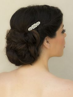 "Hair Comes the Bride - Small Rhinestone Bridal Hair Comb ~ ""Pilar"", $22.00 (http://www.haircomesthebride.com/small-rhinestone-bridal-hair-comb-pilar/)"