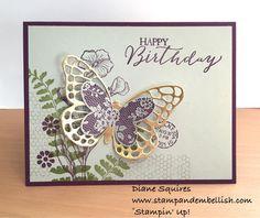 Tarjetas-Mariposas / hoja de helechos