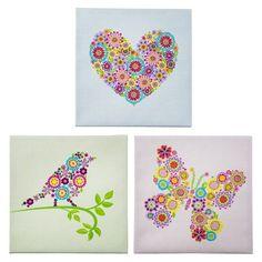 Heart Bird and Butterfly 12x12