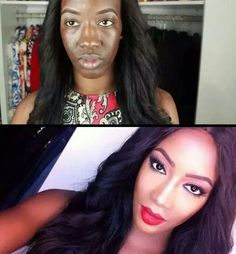 """Makeup and photoshop can do a lot. """"Real women"""" should stack themselves up to what they see in magazines. Girl Memes, Real Women, Makeup Looks, Diva, Hair Beauty, Make Up, Photoshop, Lol, Cute"""