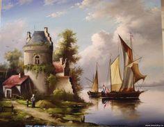 живопись голландских мастеров пейзажи: 7 тыс изображений найдено в Яндекс.Картинках Photo Wall, Landscape, City, Painting, Image, Loft Beds, Photograph, Painting Art, Cities