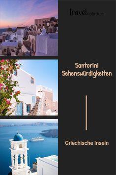 Santorini gehört zu den beliebtesten Inseln in Griechenland und das zu Recht. Hol dir mehr Infos und Tipps zu den schönsten Santorini Sehenswürdigkeiten für deinen Urlaub. #santorini #griechenland #reisen Desktop Screenshot, Hotels In Greece, Santorini Greece, Santorini Holidays