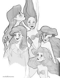 Little Mermaid - Ariel: disney, princess, sketch Ariel Disney, Disney Magic, Disney Amor, Princesa Disney, Disney Little Mermaids, Ariel The Little Mermaid, Disney Princesses, Disney Concept Art, Disney Fan Art