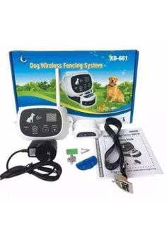 KD-661 Waterproof Rechargeable Wireless Electronic Pet Fence System 2 DOG White