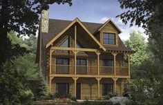 Satterwhite Log Homes | Dogwood Log Home Plan | ext