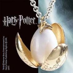 Harry Potter Golden Egg Pendant Chain – Miniature Golden Egg with petals that bloom open. Gold plated pendant comes complete with chain. - http://geekarmory.com/harry-potter-golden-egg-pendant-chain/