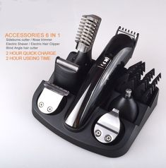 6 in 1 hair trimmer man grooming kit hair clipper electric shaver beard trimmer men styling salon shaving machine cutting barber #hairtrimmer