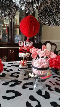 Barbie candy buffet