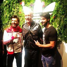 The bouuuuyzzz with STAn SMITH... #adidasrunning #adidasuprising #ranveersingh #karanwahi #stansmith  #running #love #fitnessadd