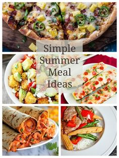 Simple Summer Meals - great ideas for feeding your family when you don't feel like spending a ton of time in the kitchen