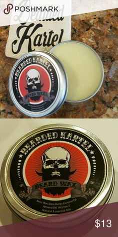 Beard wax Beard wax natural and organic,beeswax,shea butter,coconut oil,sweet almond oil, vitamin e and essential oils. Bearded Kartel  Accessories