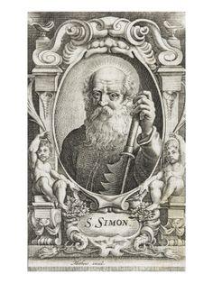 Portrait de saint Simon avec attributs par JEAN MATHEUS  - Musée national de la Renaissance (Ecouen)