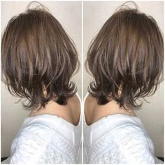 Pin on 髪型 Haircuts For Medium Hair, Short Shag Hairstyles, Medium Hair Cuts, Short Hair Cuts, Medium Hair Styles, Curly Hair Styles, Short Hair With Layers, Layered Hair, Hair Arrange