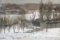 Gezicht op het Oosterpark in Amsterdam in de sneeuw, George Hendrik Breitner…