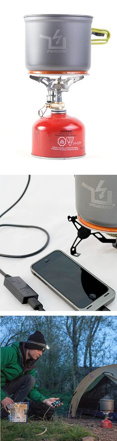 Powerpot - Cooking pot that turns heat into power to charge phones, tablets, MP3 players and more! Great for camping.
