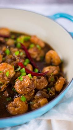 Spice up your life with this easy and lighter version of kung pao shrimp.