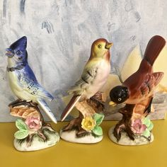 Vintage Porcelain Bird Collection-Decorative by mytimevintage