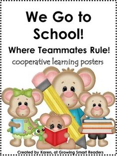 FREE! These cute mice children can help your little ones start the year working together!  Ownership, cooperative learning and other positive messages make this set a very MICE addition to the classroom. Also, makes a really cute picture book!!