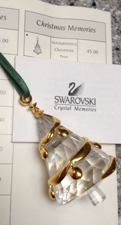 Swarovski Christmas Tree ornament.  Not sure which year.
