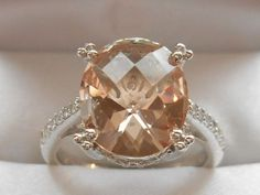 QVC-Diamonique and Simulated Morganite Sterling Silver Ring Size 7 in Jewelry & Watches, Fashion Jewelry, Rings | eBay