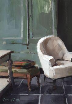 ◇ Artful Interiors ◇ paintings of beautiful rooms - David Lloyd - Artblog
